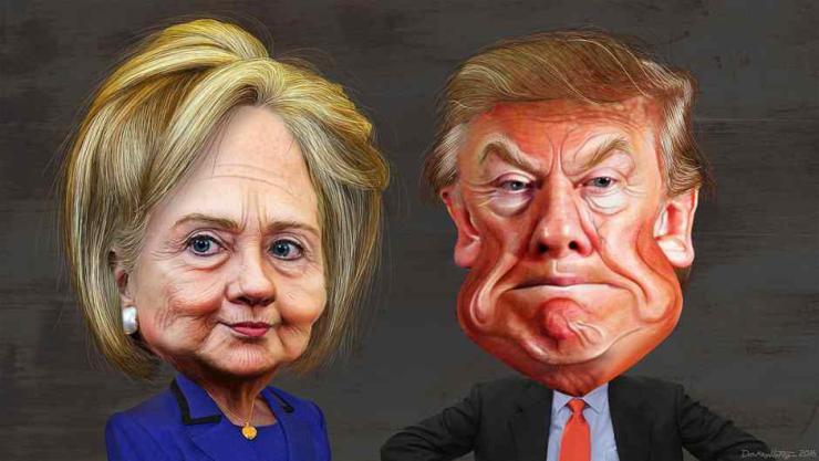 hillary_clinton_vs._donald_trump_-_caricatures (1)